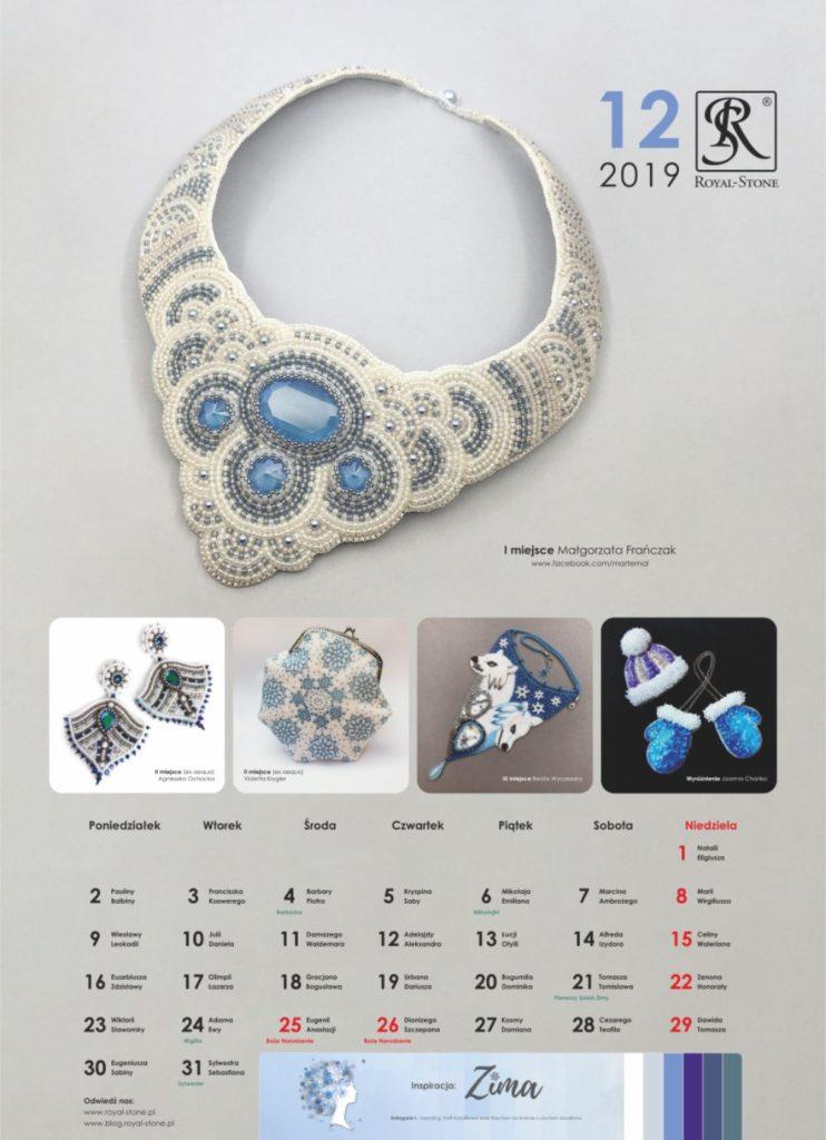 Kartka z Kalendarza biżuteryjnego Royal-Stone. Grudzień 2019