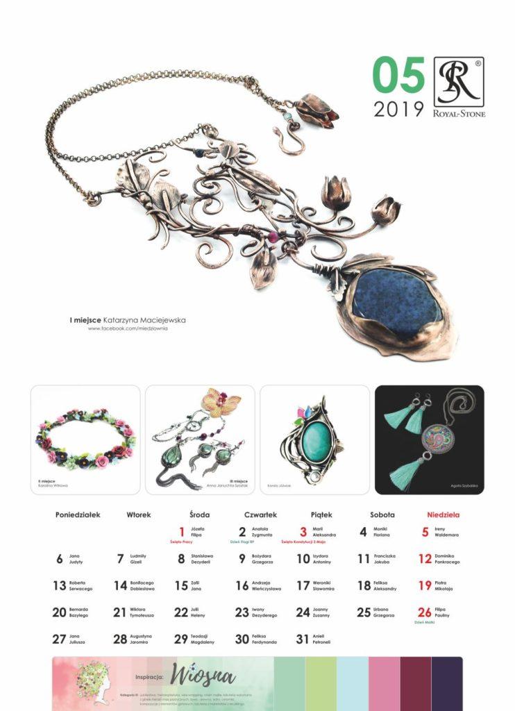 Kartka z Kalendarza biżuteryjnego Royal-Stone. Maj 2019