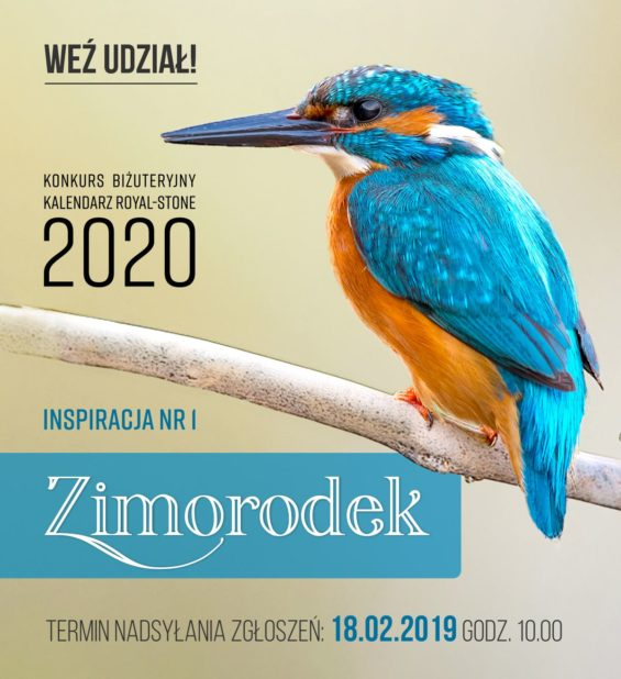Konkurs biżtueryjny Kalendarz Royal-Stone 2020 - inspiracja Zimorodek