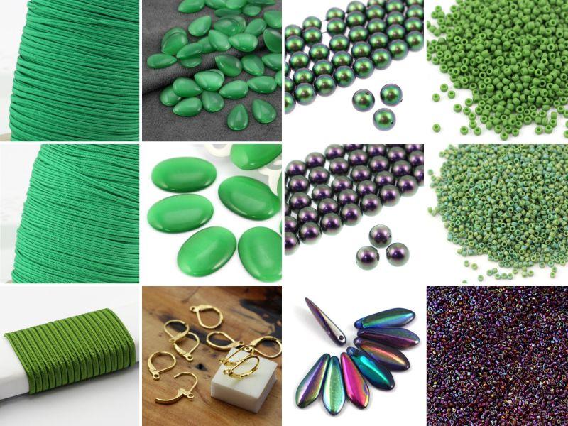 Zielone kolczyki sutasz tutorial Magdaleny Bielskiej
