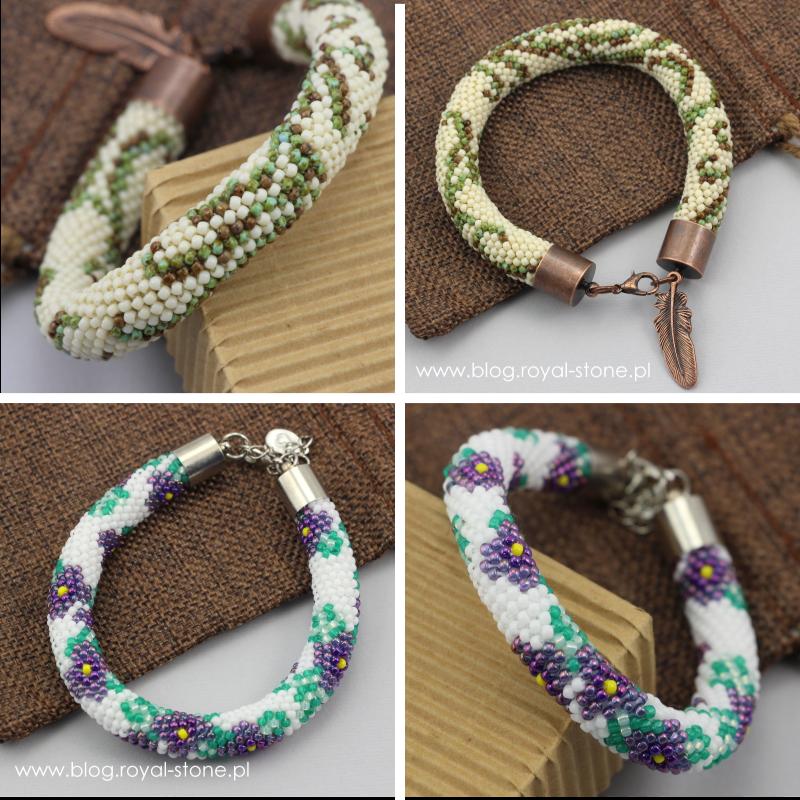 Ukośnik - sznur szydełkowo - koralikowy - tutorial jak wykonać ukośnikowy sznur z koralików.