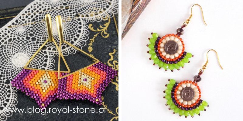 Flat brick stitch, circular brick stitch
