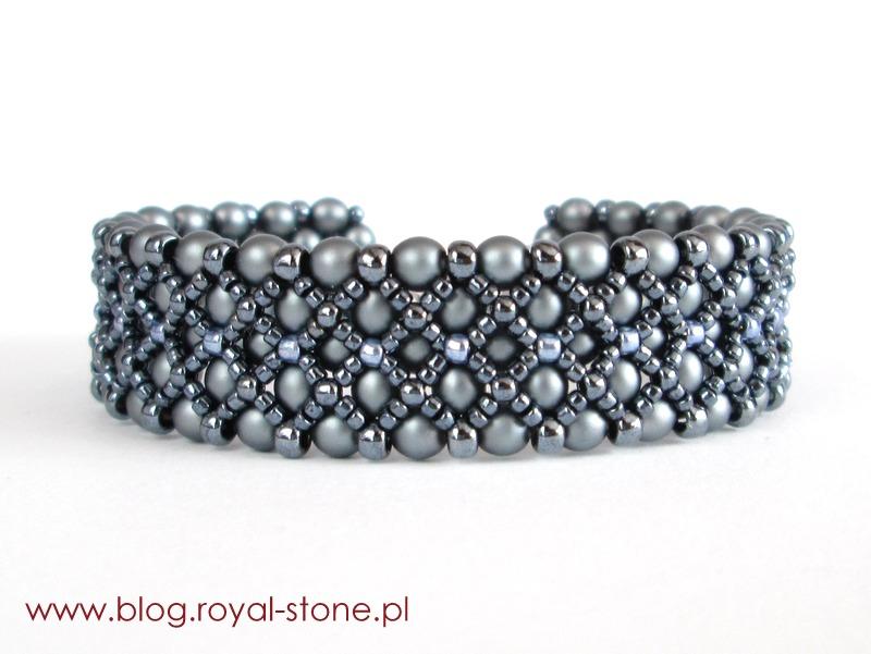 Bransoletka z Velvet Round Beads ścieg right angle weave