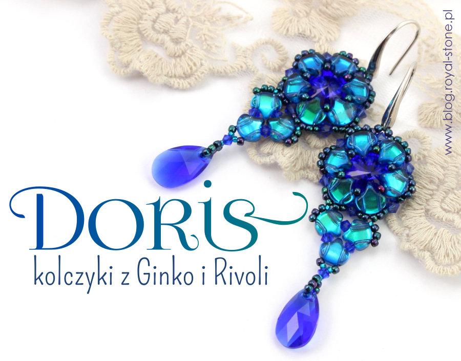 Doris – kolczyki z Rivoli Swarovski i Ginko Matubo – tutorial