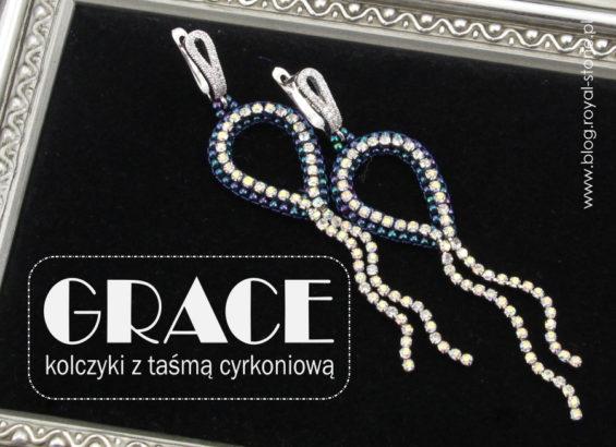 Grace - kolczyki z taśmą z kryształkami