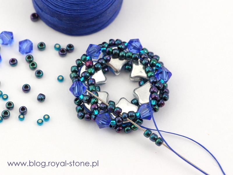 obszycie koralikami seed beads kaboszonu