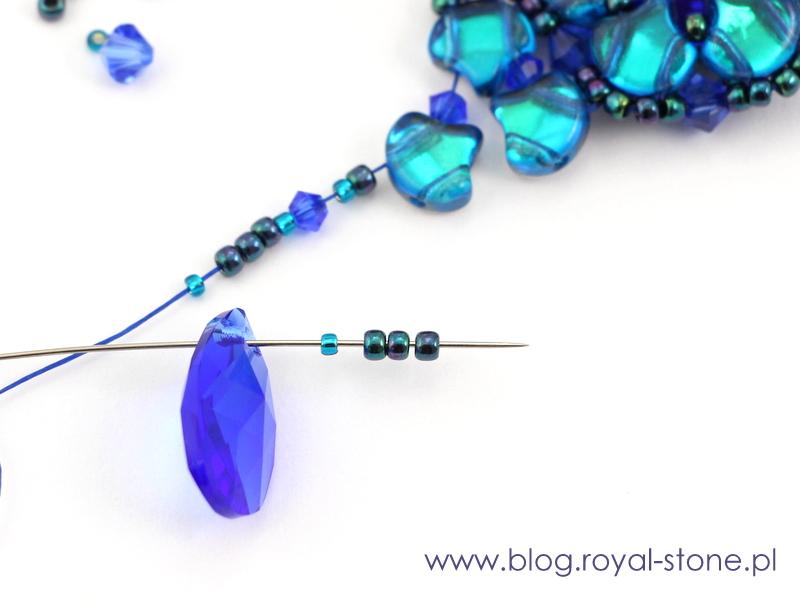 doszycie zawieszki z pear shaped pendant do kolczyków doris