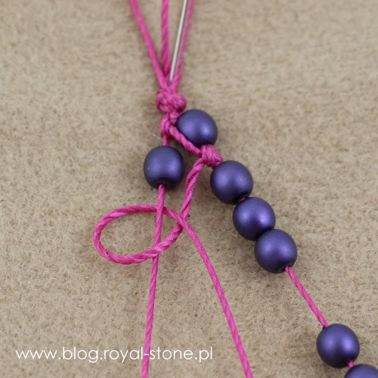 wyplatana bransoletka ze sznurka