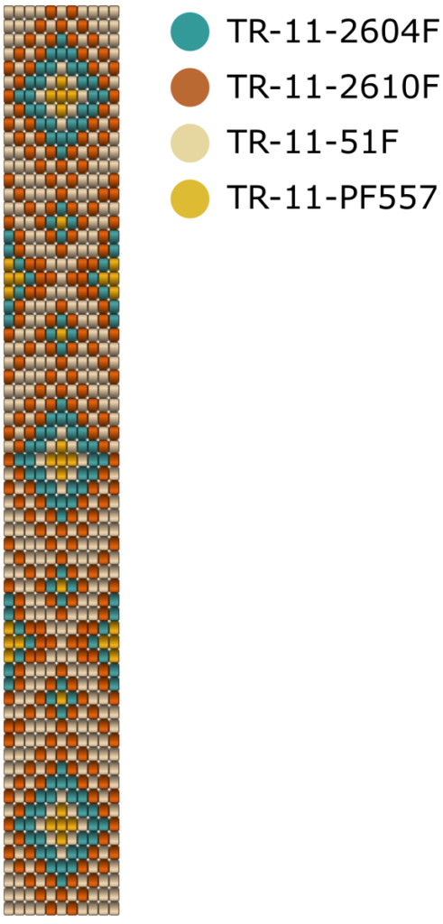Wzór na bransoletkę na krośnie - Navajo