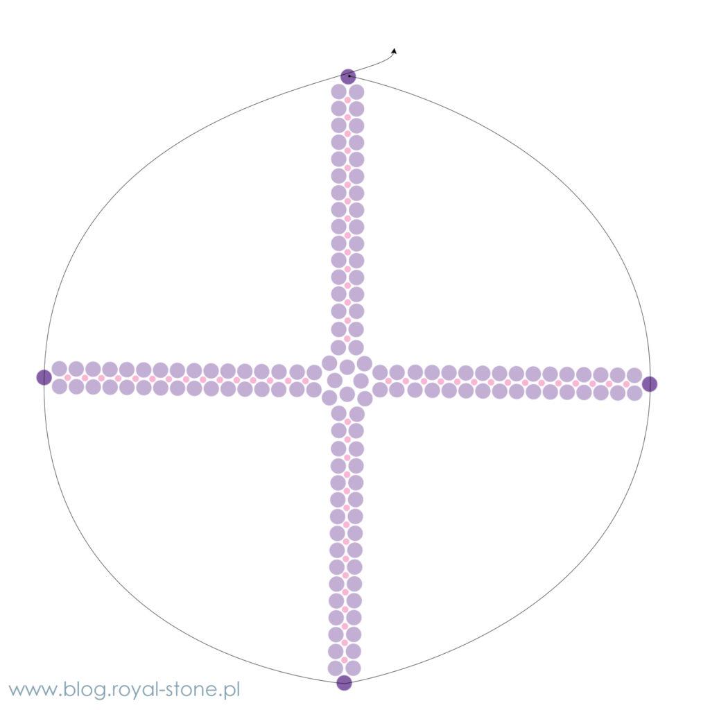 Plecionka herringbone na Cotton Pearls Miyuki tutorial royal-stone.pl