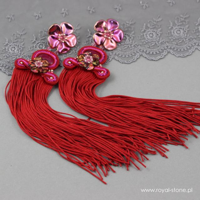 Kolczyki z kwiatami Rose Petals