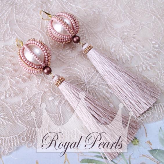 Royal Pearls tutorial na kolczyki z perłami i chwostami