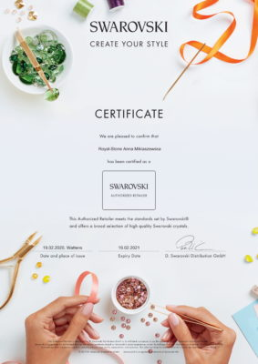 Swarovski Certyfikat