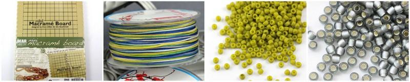 Materiały potrzebne do zrobienia bransoletki z makramy z przesuwanym zapięciem ze sznurka