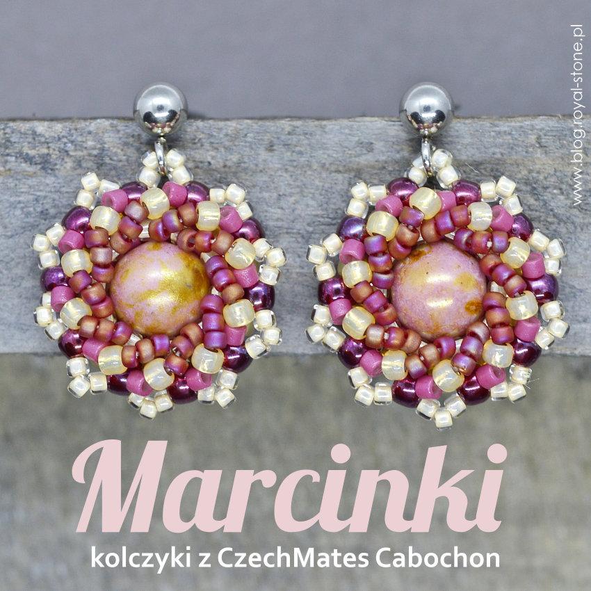 Marcinki – kolczyki CzechMates Cabochon