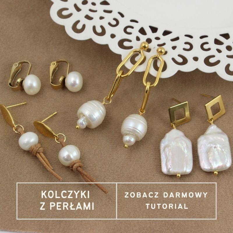 Kolczyki i klipsy z perłami