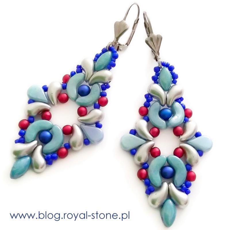 Gotowe kolczyki z koralikó - tutorial sklepu royal-stone.pl