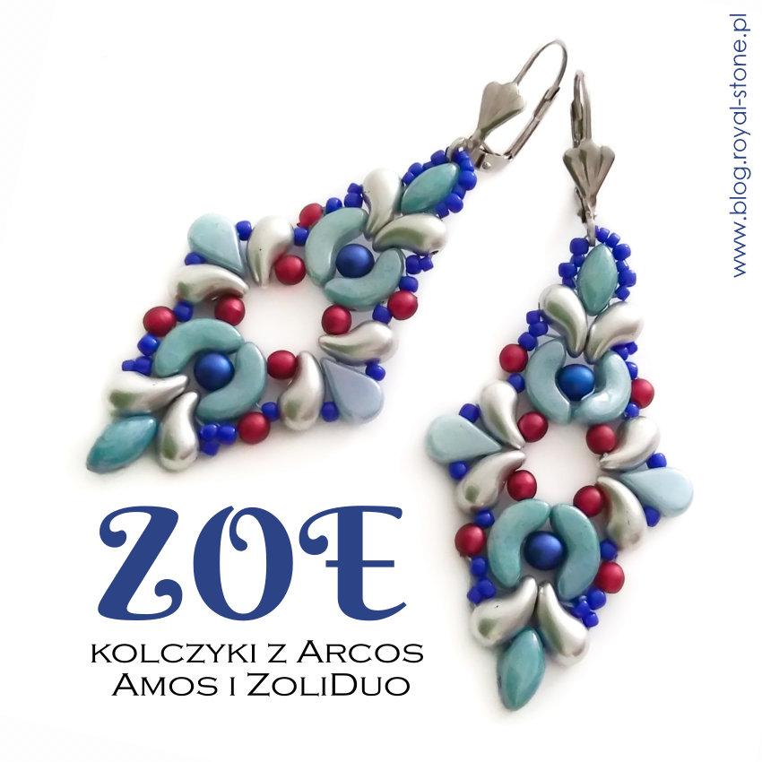 Zoe – kolczyki z Arcos, Amos, Zoliduo, IrisDuo i Velvet Beads