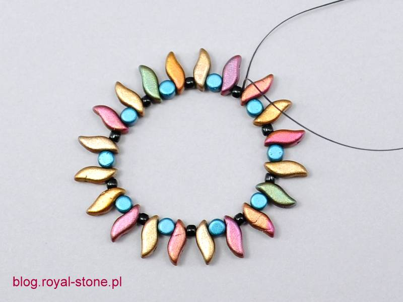 Water lily - wisiorek z lunasoft i stormduo- tutorial royal-stone.pl